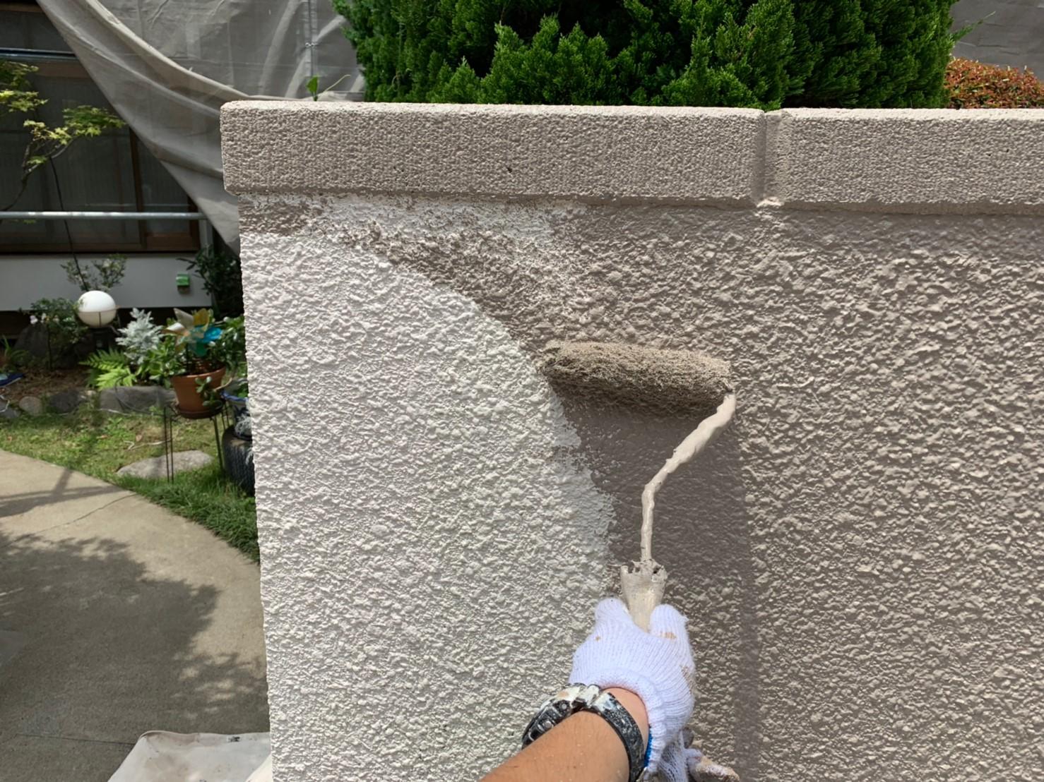 川口市にて外壁塗装