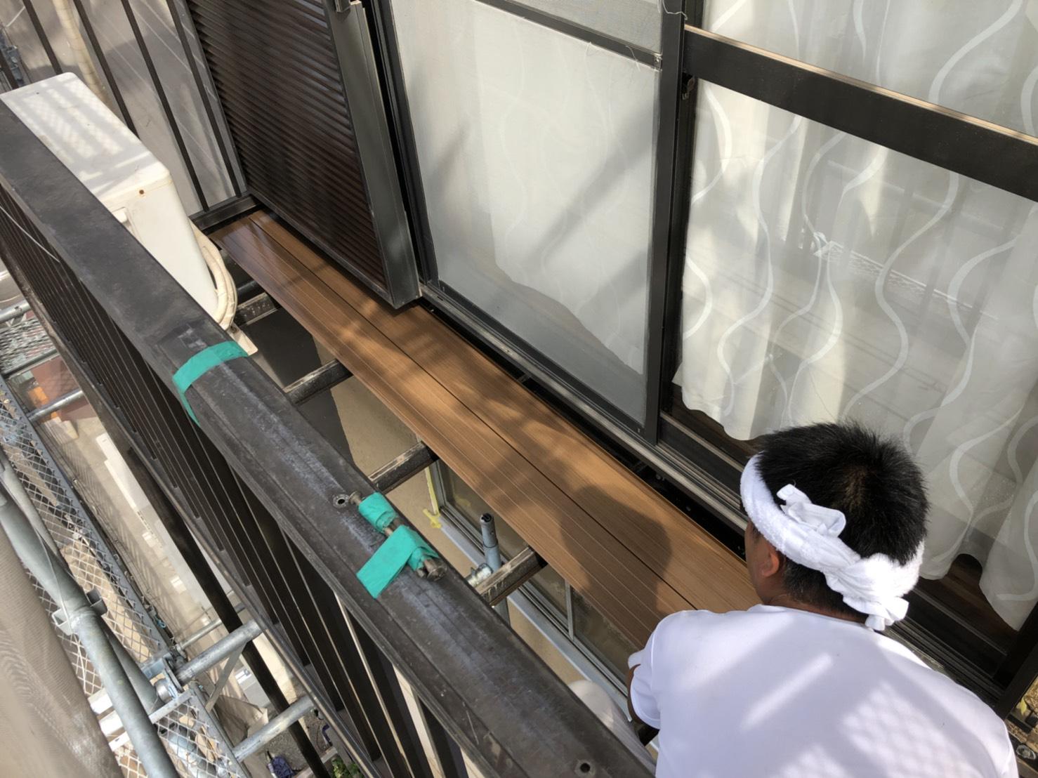 横浜市にて塗り替え工事を施工しました