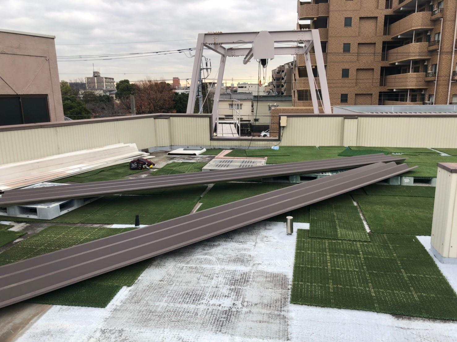 折半屋根修理